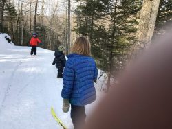 Skiing the Lower Blue Jay