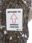 Return to Nordic Center sign