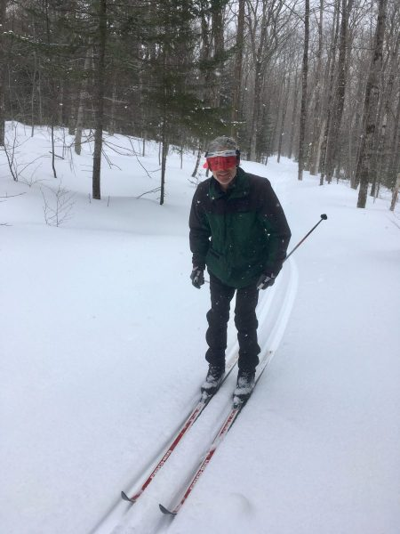 Our fiend Bill on his 1976 mohair skis